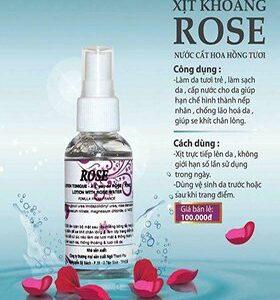 Xịt khoáng ROSE Natural Spa dưỡng da hàng ngày - Mỹ Phẩm 2T