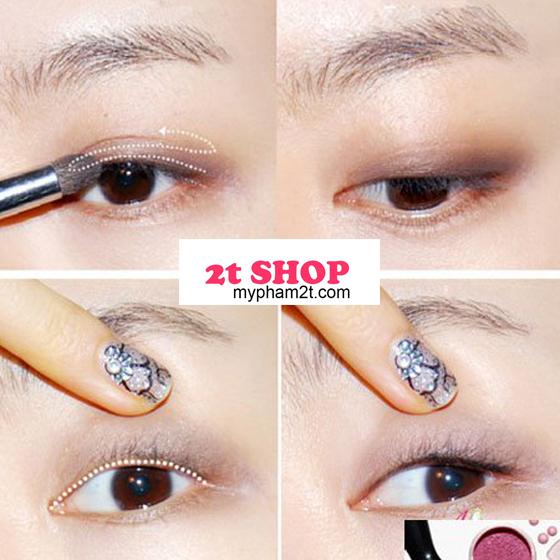 Trang điểm mắt màu trắng